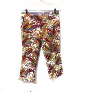 Tommy Hilfiger Floral Stretch Cropped Ankle Pants